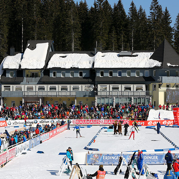 IBU World Cup Biathlon. Event planning and organisation, marketing, finance management, team accommodations.